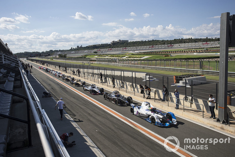 Alexander Sims BMW I Andretti Motorsports, BMW iFE.18, Jose Maria Lopez, Dragon Racing ve Sébastien Buemi, Nissan e.Dams