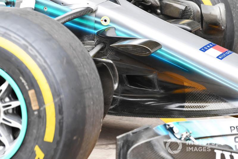 Mercedes-AMG F1 W09 EQ Power+, orrkúp, részlet