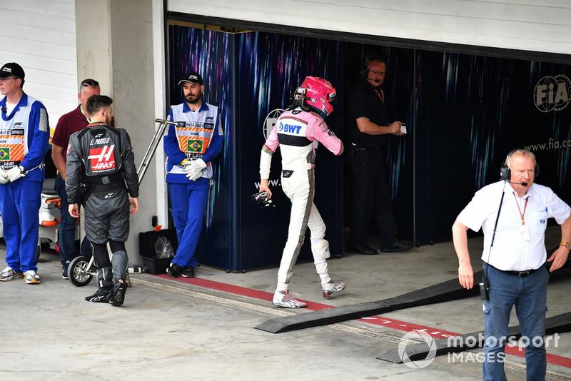 Esteban Ocon, Racing Point Force India no Parc Ferme