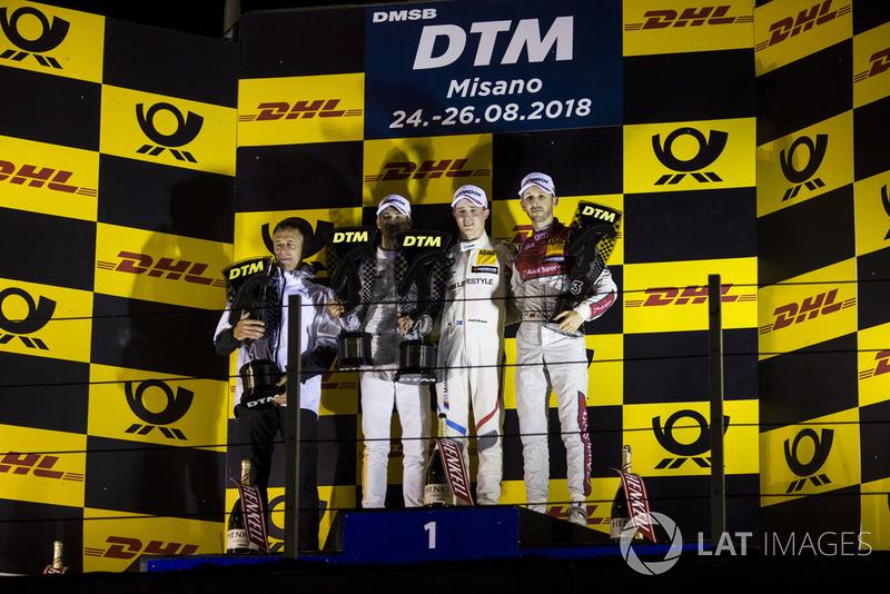 Podium: 1. Joel Eriksson, BMW Team RBM, 2. Edoardo Mortara, Mercedes-AMG Team HWA 3. René Rast, Audi Sport Team Rosberg