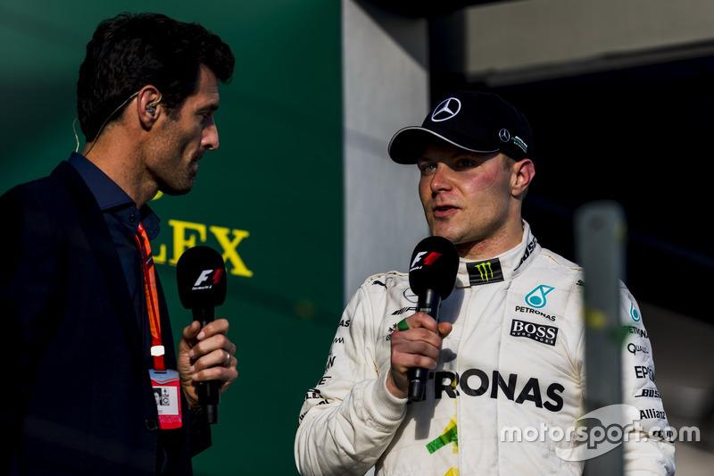 Podium: 3. Valtteri Bottas, Mercedes AMG; Mark Webber