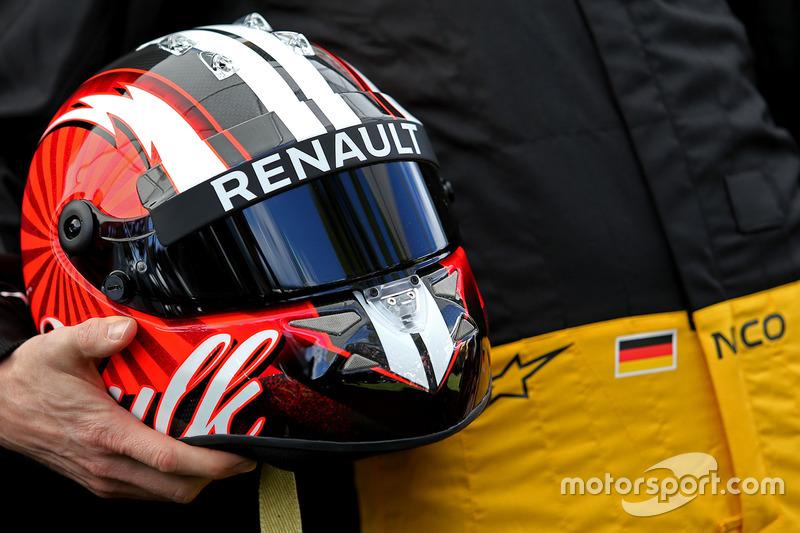Casco de Nico Hulkenberg, Renault Sport F1 Team