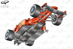 Vue de dessous de la Ferrari F2002 (653)