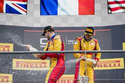 Podium : le vainqueur Giuliano Alesi, Trident, le troisième Ryan Tveter, Trident