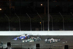 Will Power, Team Penske Chevrolet, Ed Carpenter, Ed Carpenter Racing Chevrolet, Takuma Sato, Andretti Autosport Honda, crash