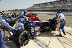 Alexander Rossi, Curb Herta - Andretti Autosport Honda pit stop