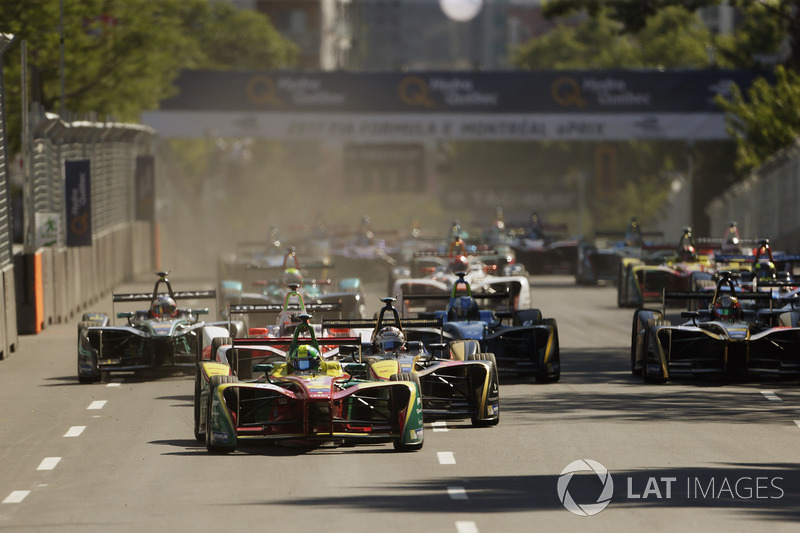 Lucas di Grassi, ABT Schaeffler Audi Sport, startta lider