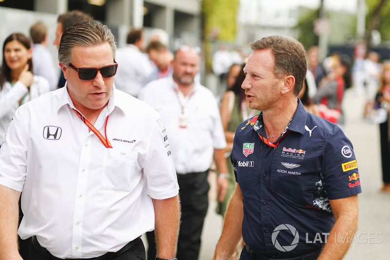 Zak Brown, directeur exécutif McLaren Technology Group, Christian Horner, Team Principal, Red Bull Racing