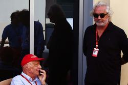 Niki Lauda, Mercedes Non-Executive Chairman with Flavio Briatore