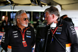 Dr. Vijay Mallya, Sahara Force India Team Owner, Otmar Szafnauer, Sahara Force India F1 Chief Operating Officer