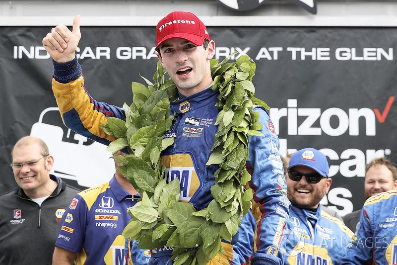 Уоткинс-Глен: второй успех Росси в IndyCar