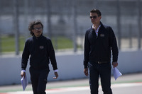 FIA Safety Director Laurent Mekies and F1 Technical and Sporting Coordinator Marcin Budkowski.