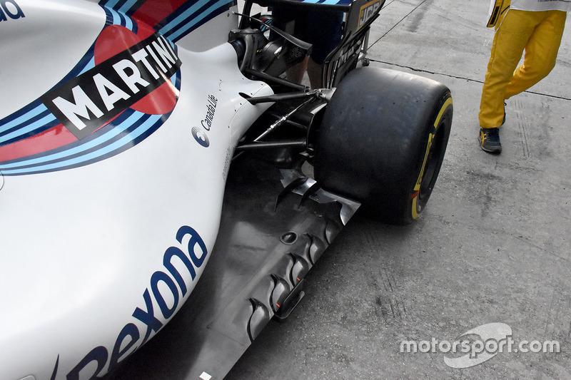 Detalle lateral del Williams FW40