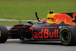Race winner Max Verstappen, Red Bull Racing RB13 celebrates