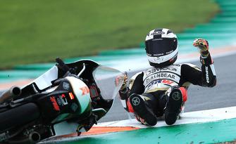 Fernández, accidente de carrera de Moto3.