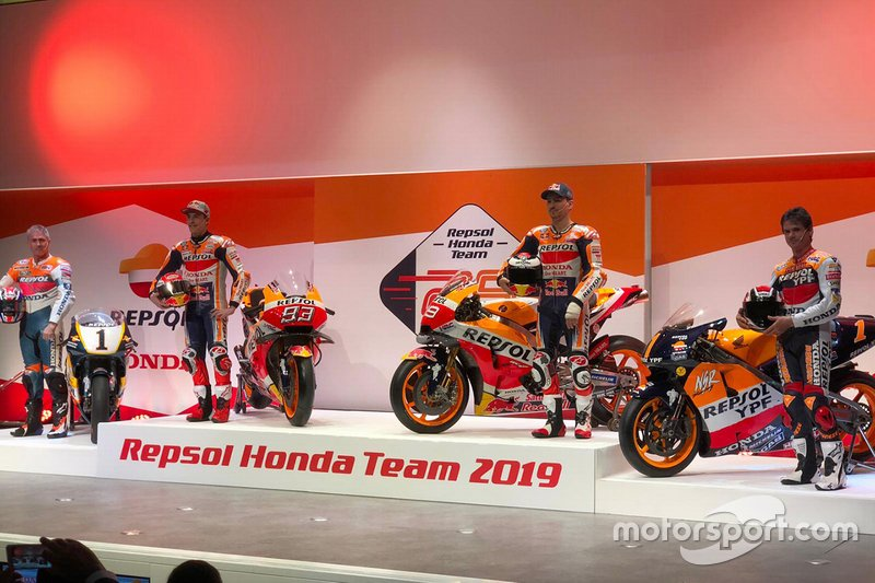 Мік Дуен, Марк Маркес, Хорхе Лоренсо, Алекс Крівіль, Repsol Honda Team