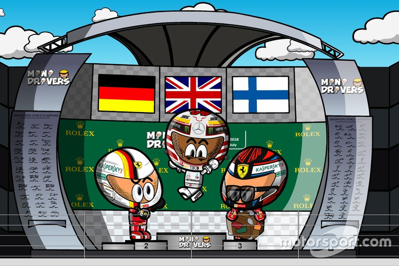 El podio del GP de Hungría 2018 de F1, por MiniDrivers