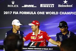 Pressekonferenz: Esteban Ocon, Force India, Sebastian Vettel, Ferrari, Sergio Perez, Force India
