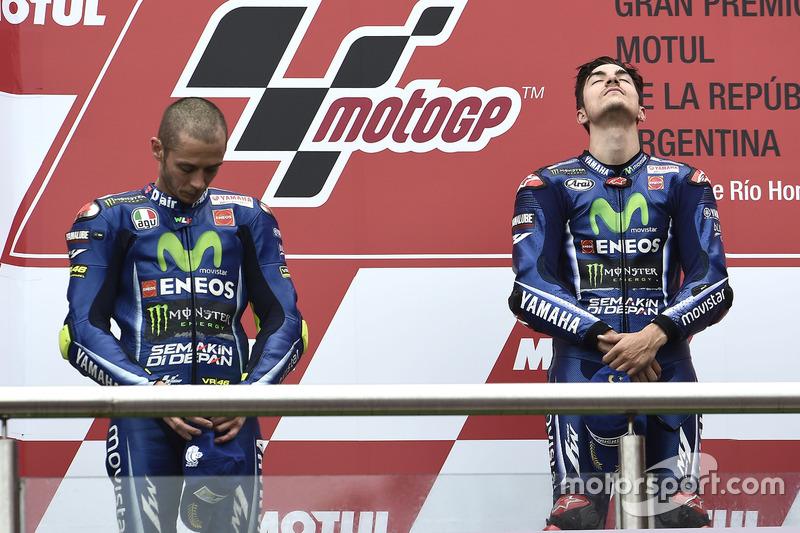 Maverick Viñales et Valentino Rossi