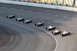 J.R. Hildebrand, Ed Carpenter Racing Chevrolet, leads a group