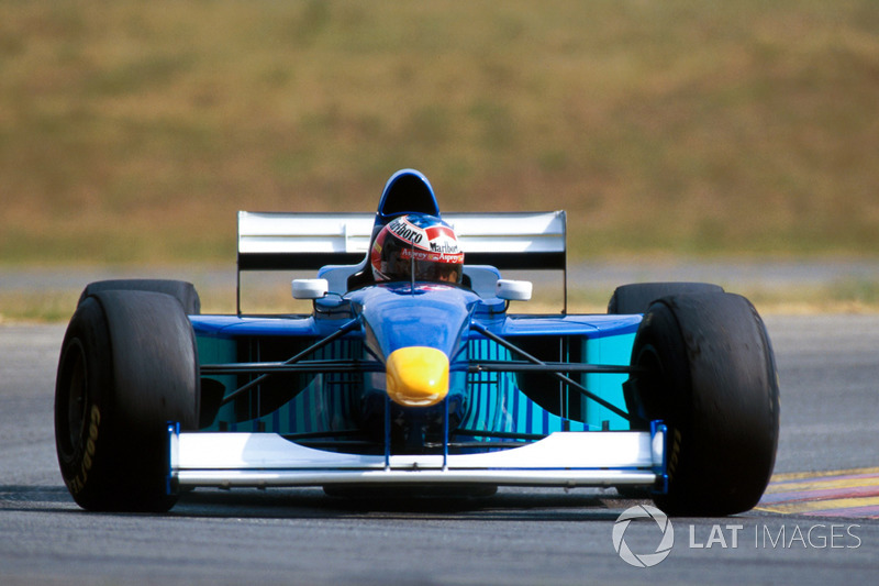 Michael Schumacher tests the Sauber Petronas C16 to assist the Swiss team with development information