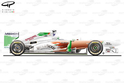 Force India VJM04 side view, Australian GP