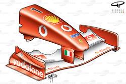 Ferrari F2002 (653) 2002 nose