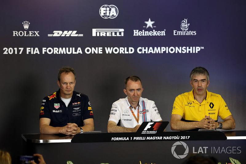 Paul Monaghan, Red Bull Racing RB13 ingeniero jefe, Paddy Lowe, Williams accionista y Director técni