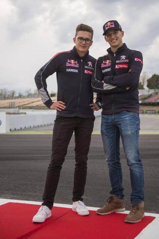 Kevin Hansen, Team Peugeot-Hansen Academy, Peugeot 208 WRX; Timmy Hansen, Team Peugeot-Hansen, Peuge