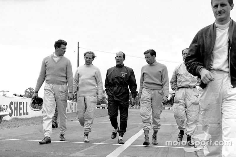 1961, Tim Parnell, Innes Ireland, Stirling Moss, Jim Clark, Jack Fairman ve Lucien Bianchi