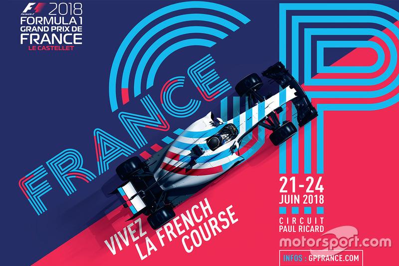 Poster oficial del GP de Francia 2018