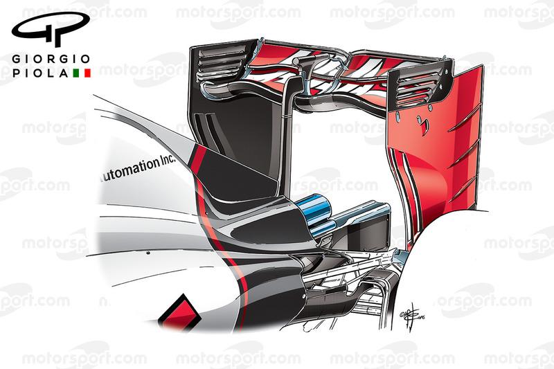 Haas VF-16, ala posteriore, GP d'italia