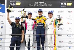 Podium: Race winner #19 Equipe Verschuur Renault RS01: Steijn Schothorst; second place #3 R-ace GP Racing Renault RS01: Kevin Korjus; third place #4 Oregon Team Renault RS01: David Fumanelli