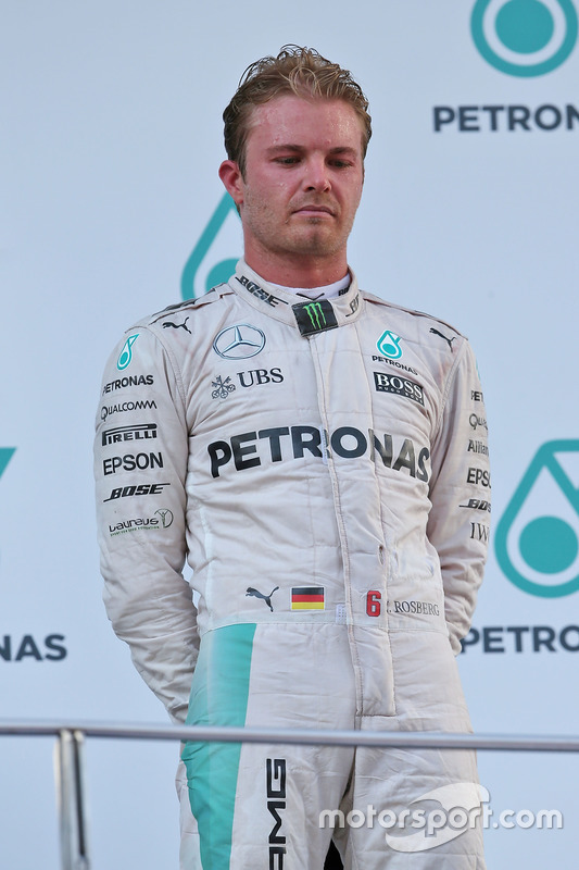 Third place Nico Rosberg, Mercedes AMG F1 on the podium