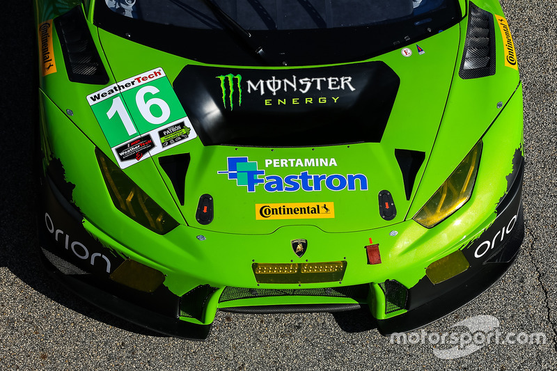 #16 Change Racing, Lamborghini Huracan GT3: Spencer Pumpelly, Corey Lewis, Richard Antinucci, detail