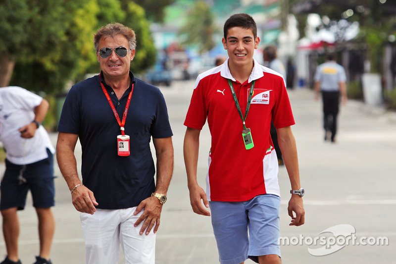 (L to R): Jean Alesi, with his son Giuliano Alesi