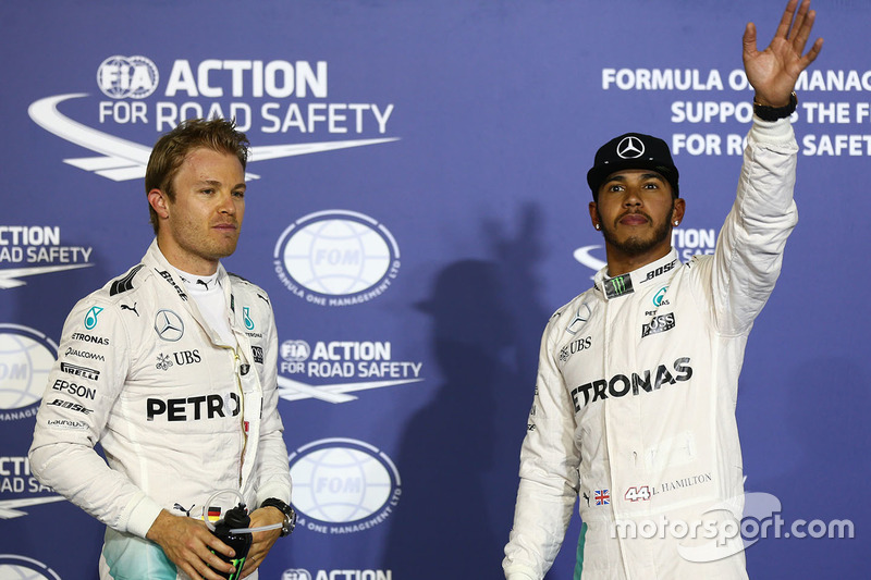 Pole Position für Lewis Hamilton, Mercedes AMG F1 Team, second place Nico Rosberg, Mercedes AMG F1 Team