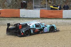 #23 Panis Barthez Competition Ligier JS P2 Nissan: Fabien Barthez, Timothe Buret, Paul-Loup Chatin in the gravel