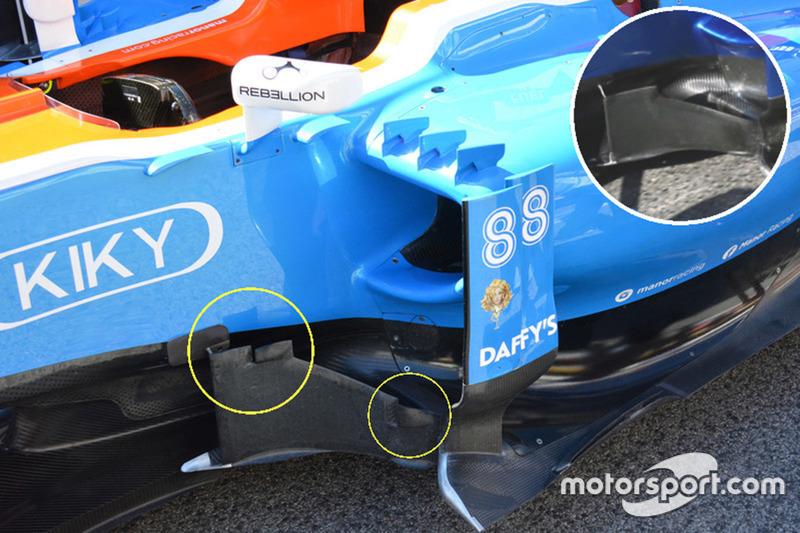 Manor Racing MRT05, Vergleich seitliche Windabweiser