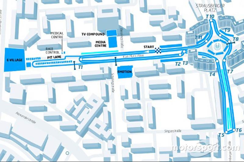 Berlin ePrix track layout