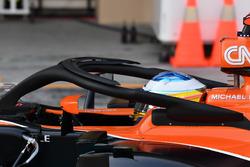 Fernando Alonso, McLaren MCL32, sensores aerodinámicos y Halo