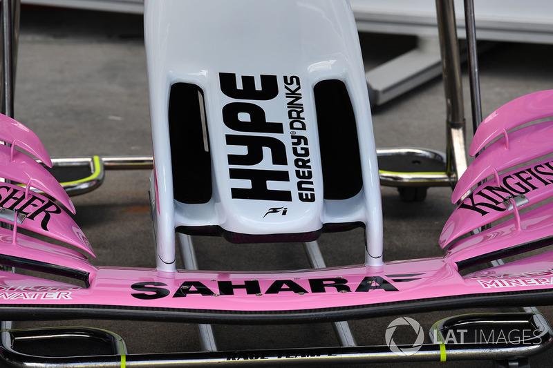 Force India VJM11, dettaglio del naso