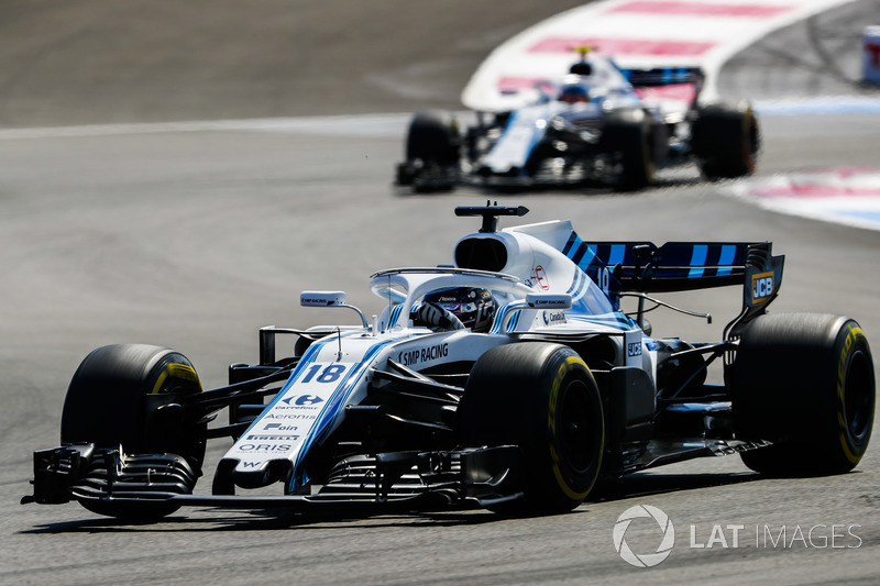 Lance Stroll, Williams FW41, Sergey Sirotkin, Williams FW41