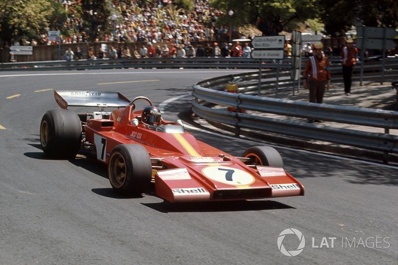Jacky Ickx, con la Ferrari 312B3 al debutto nel GP di Spagna