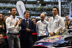 Sébastien Ogier, Malcolm Wilson, Elfyn Evans and co-drivers Julien Ingrassia and Daniel Barritt, M-Sport