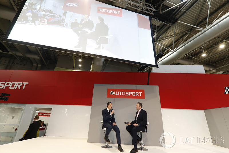 James Barclay of Jaguar talks to Henry Hope-Frost on the Autosport Stage
