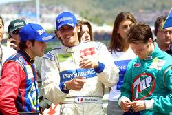 Ganador de la carrera Ricardo Zonta, segundo lugar Franck Montagny, y tercer lugar Rafael Sarandeses