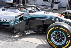 Mercedes-AMG F1 W09 bargeboard detail