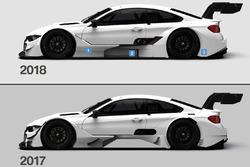 Comparación BMW M4 DTM 2017 y 2018