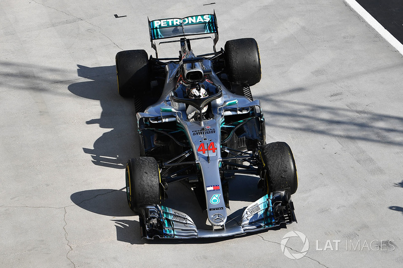 1. Lewis Hamilton, Mercedes-AMG F1 W09 en parc ferme